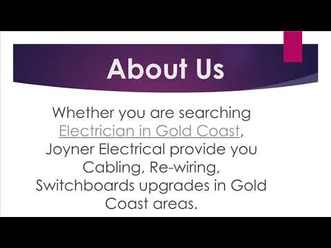 Electrician in Gold Coast contact Joyner electrical