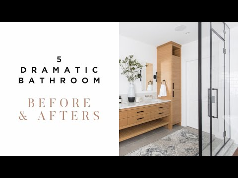 Our 5 Most Dramatic Bathroom Renovations | Before & After