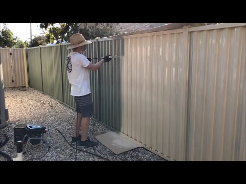 Ozito Airless Paint Sprayer Review – Paint Your Colorbond Fence Gold Coast